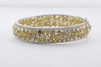 25.51CT Fancy Yellow Diamond Bangle SEG19299MU