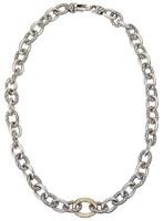 18Kt/Sterling Silver Link Necklace