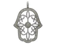2.58 ct Diamond Hamsa-Shaped Pendant