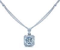 0.87 cttw Round Diamond Pendant