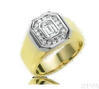 Ziva Emerald Cut Diamond Ring for Men