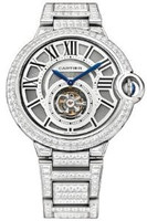 Cartier Ballon Bleu Tourbillon WG Diamond Watch HPI00281