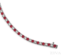 Ziva Ruby & Diamond Bracelet