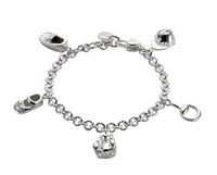 Gucci Baby Charm Bracelet Silver L. 17 cm