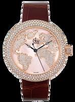 Jacob & Co Crystal Quartz RG Diamond Watch CR47SRWRRG-F