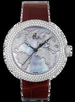 Jacob & Co Crystal Quartz Steel Diamond Watch CR47WW-F