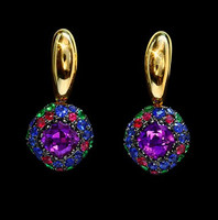 Mousson Atelier Riviera Gold Amethyst Earrings E0074-4/12