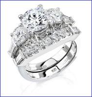 Gregorio 18K WG Diamond Engagement Ring & Band R-221