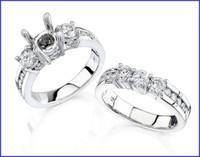 Gregorio 18K WG Diamond Engagement Ring & Band R-264B R-264E