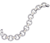 18Kt/Sterling Silver Traversa Round Link Bracelet