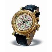 ZANNETTI Impero Gladiator Engraved 18k Gold Chrono Watch