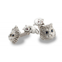 ZANNETTI CAT & MICE CUFFLINKS