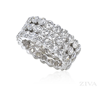Ziva 3-Row Diamond Eternity Ring