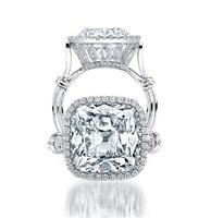 Uneek Platinum 7.60ct Cushion-Cut Diamond Ring LVS795