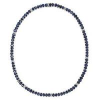 1.11ct Diamond & 37.49ct Ceylon Sapphire Necklace