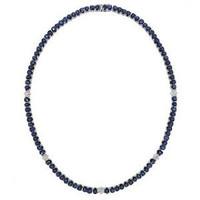1.30ct Diamond & 41.60ct Ceylon Sapphire 14k W/g Necklace