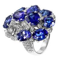 Tanzanite & 2.00 ct Diamond Ring