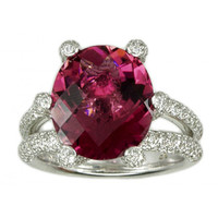 7 ct Tourmaline & 1.51 ct Diamond Ring