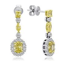 18K White & Yellow Gold Diamond Earrings KE2171WY-18K