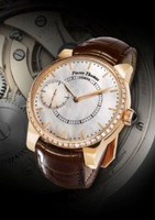 Pierre Thomas Geneve Grande Seconde Historical Mechanical Movement White Dial Men's Diamond Watch