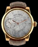Pierre Thomas Geneve Grande Seconde Historical Mechanical Movement Meteorite Dial Watch PTGS9-5
