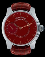 Pierre Thomas Geneve Grande Seconde Historical Mechanical Movement Red Laquered Dial Watch PTGS9-4