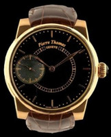 Pierre Thomas Geneve Grande Seconde Historical Mechanical Movement Black Dial Watch PTGS9-1