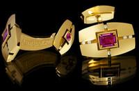 Mousson Atelier Mens Jewellery Ruby & Diamond Cufflinks C0071-0/1