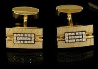 "Mousson Atelier Mens Jewellery Cufflinks ""Scar"" Diamonds"