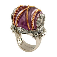 Amethyst & 1.5 ct Diamond Ring