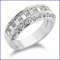 Gregorio 18K WG Diamond Wedding Band R-218