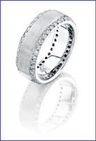 Gregorio 18K WG Diamond Wedding Band H-937