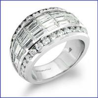 Gregorio 18K WG Diamond Wedding Band R-172