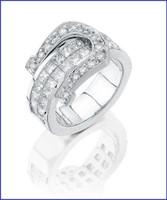 Gregorio 18K WG Diamond Ladies Ring R-7169