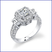 Gregorio 18K WG Diamond Engagement Ring R-356