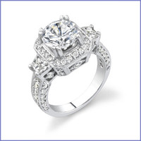 Gregorio 18K WG Diamond Engagement Ring R-314