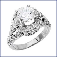 Gregorio 18K WG Diamond Engagement Ring R-6709