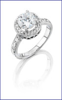 Gregorio 18K WG Diamond Engagement Ring R-6370