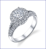 Gregorio 18K WG Diamond Engagement Ring R-524