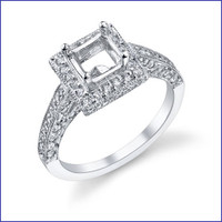 Gregorio 18K WG Diamond Engagement Ring R-508