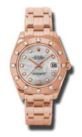 Rolex- Datejust 34mm Special Edition Pink Gold Masterpiece 12 Dia Bezel 81315MD