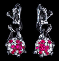 "Mousson Atelier Cosmos Collection ""UFO"" Ruby & Diamond Earrings E0038-0/1"