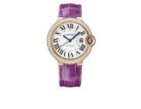 Cartier Ballon Bleu Medium (RG Diamonds/Silver/ Leather)