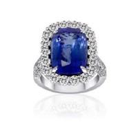 11.07 Ct Tanzanite & Diamond Ring (rd 2.24ct, Tz 8.83ct)