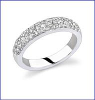Gregorio 18K WG Diamond Engagement Band R-189B