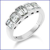 Gregorio 18K WG Diamond Band R-1799