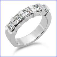 Gregorio 18K White Diamond Wedding Band R-173B