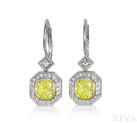 Ziva Yellow Diamond Earrings