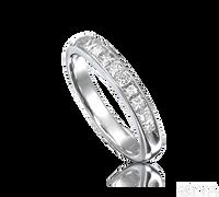Ziva Princess Cut Diamond Wedding Band