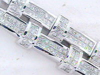 22.47 Carat Diamond & WG Men's Bracelet